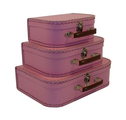 Euro Suitcases - Pink Blush-Suitcases, paper, travel, gift,