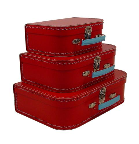 Euro Suitcases - Red-Suitcases, paper, travel, gift,