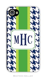 BG Cell Phone Cover - Alex Houndstooth Navy-gifts, boatman geller, cell phone cover