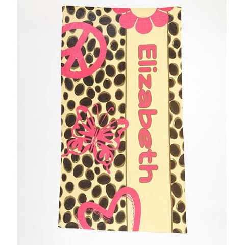 LBJ Beach Towel - Cheetah Love-beach, towel, personalized