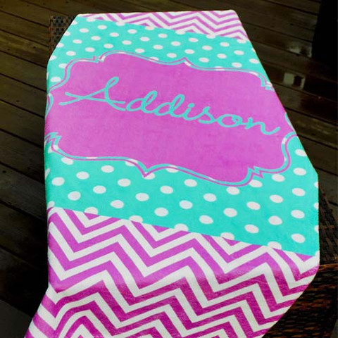 LBJ Beach Towel - Georgia-beach, towel, personalized