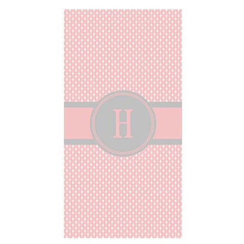 LBJ Beach Towel - Pin Dot Pink-beach, towel, personalized