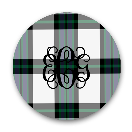 Black Watch Plaid Plate