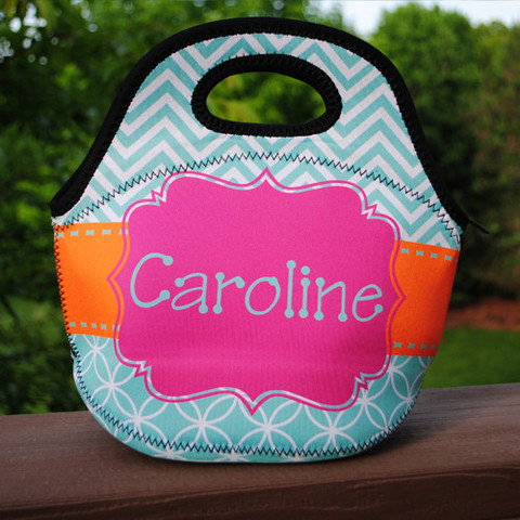 LBJ Lunch Tote - Caroline Print-lunch tote, lunchbox