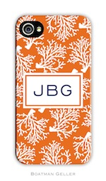 BG Cell Phone Cover - Coral Repeat-gifts, boatman geller, cell phone cover