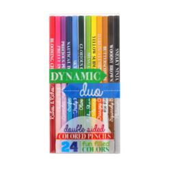 Dynamic Duo Double-Sided Colored Pencils-Gifts, pencils, pens