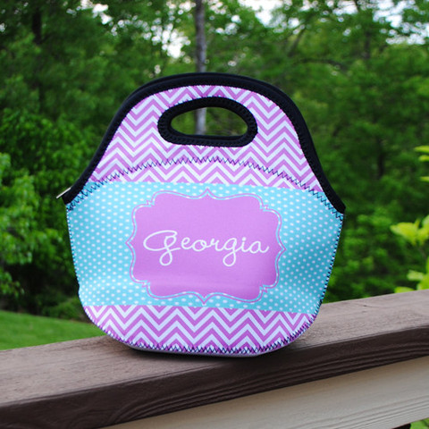 LBJ Lunch Tote - Georgia Print-lunch tote, lunchbox