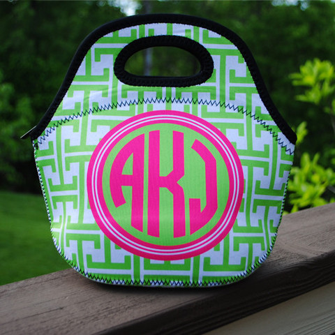 LBJ Lunch Tote - Greek Print-lunch tote, lunchbox