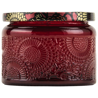 Voluspa - Goji & Tarocco Orange - Small Embossed Glass Jar Candle-Candle, Voluspa, Gift,