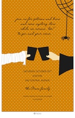 Halloween Toast Party Invitation-hicks paper goods, halloween, orange, party