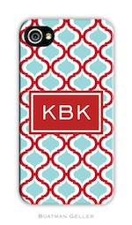 BG Cell Phone Cover -Kate Red & Teal-gifts, boatman geller, cell phone cover
