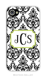 BG Cell Phone Cover - Madison Damask Black-gifts, boatman geller, cell phone cover