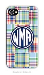 BG Cell Phone Cover - Madras Patch Blue-gifts, boatman geller, cell phone cover