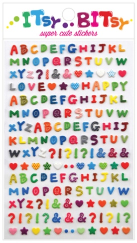 Alphabet Letter Stickers-Gifts, pencils, pens