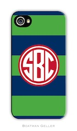 BG Cell Phone Cover - Rugby Navy & Kelly-gifts, boatman geller, cell phone cover