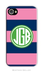 BG Cell Phone Cover - Rugby Navy & Pink-gifts, boatman geller, cell phone cover