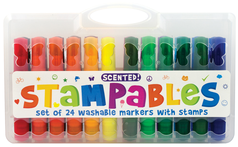 Stampables Scented Markers with Stamps-pens, international arrivals, gifts
