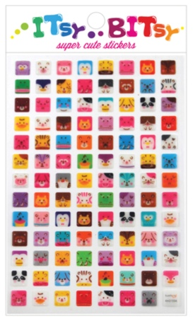Square Animal Stickers-Gifts, pencils, pens