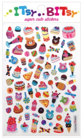 Sweet Shoppe Stickers-Gifts, pencils, pens