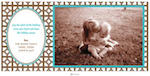 Trellis Brown Flat Photo Card-hicks paper goods, photo card, brown,