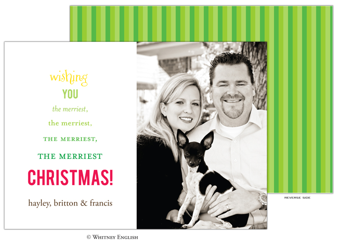 Whitney English Merry Tree Photo Card