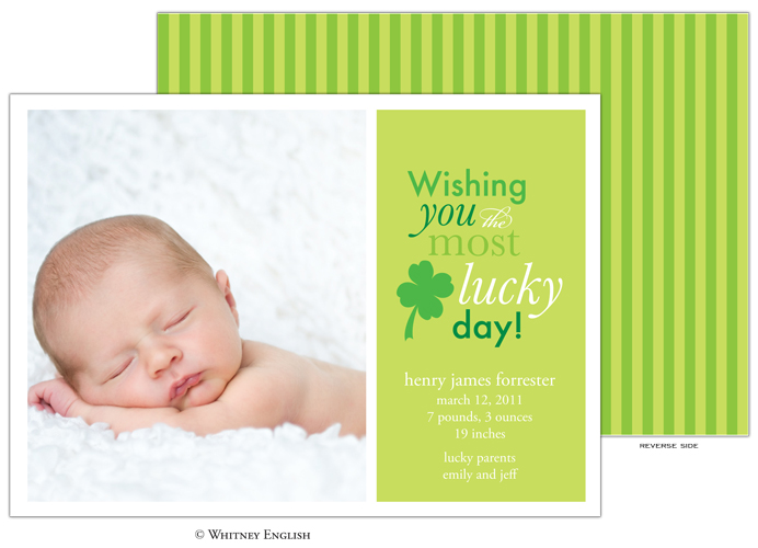 Whitney English Lucky Day Photo Card