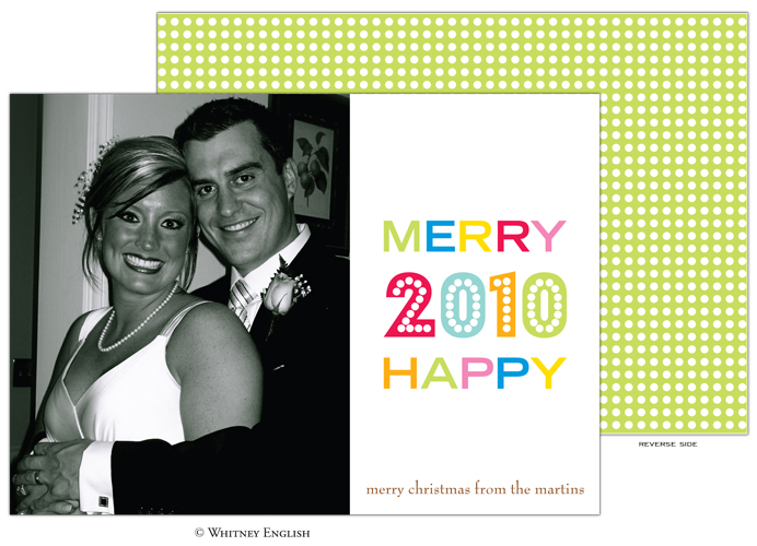 Whitney English Merry Happy Photo Card